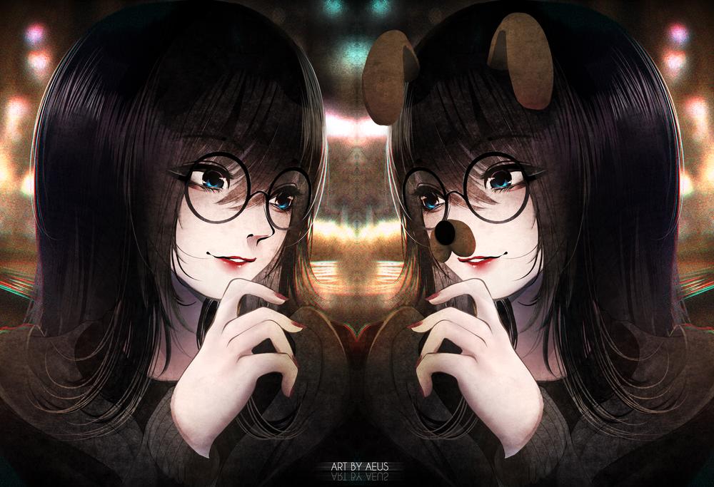 Обои для рабочего стола Две девушки близняшки, by Aeusthetic