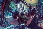 Обои Эльфийка в бою из игры World of Warcraft / Мир военного ремесла, by Todor Hristov