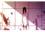 Обои Темноволосая девушка в белом платье у стены, by Jin0410