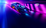 Обои Chevrolet Corvette мчится по ночной треку, из игры Need for Speed