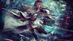 Обои Cyberpunk Lightning / Киберпанк Молния из игры Final Fantasy XIII / Последняя фантазия XIII, by Eddy-Shinjuku