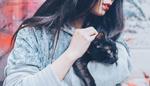 Обои Девушка с кошкой на руках