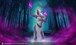 Обои Queen Azshara / Королева Азшара — древняя королева ночных эльфов из игры World of Warcraft / Мир военного ремесла, by Sonya Kayuda
