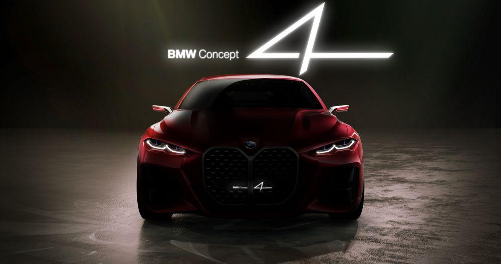 Обои для рабочего стола Немецкая автомобилестроительная компания BMW показала на автосалоне во Франкфурте шоу-кар BMW Concept 4, 2019 года