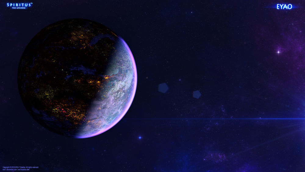 Обои для рабочего стола Планета в космическом пространстве, by ERA-7