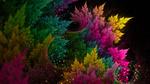 Обои Разноцветная абстракция на темном фоне