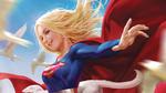 Обои Supergirl / Супер-девушка из комиксов компании Марвел / Marvel, by Derrick Chew