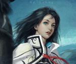 Обои Девушка с голубыми глазами, by Sun ny