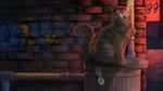 Обои Кот сидит на мусорном баке, by ClimbToTheStars