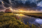 Обои Восход солнца над мостом к Красному дому, by Alberto Ghizzi Panizza