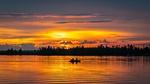 Обои Два мужчины в лодке на закате, фотограф Egor Kamelev