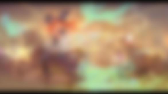 Обои Рыжеволосая девушка-ведьма катается на карусели, сидя на лошадке, среди летающих призраков (Happy Halloween 2018 / Счастливого Хэллоуина 2018), by St Luthien