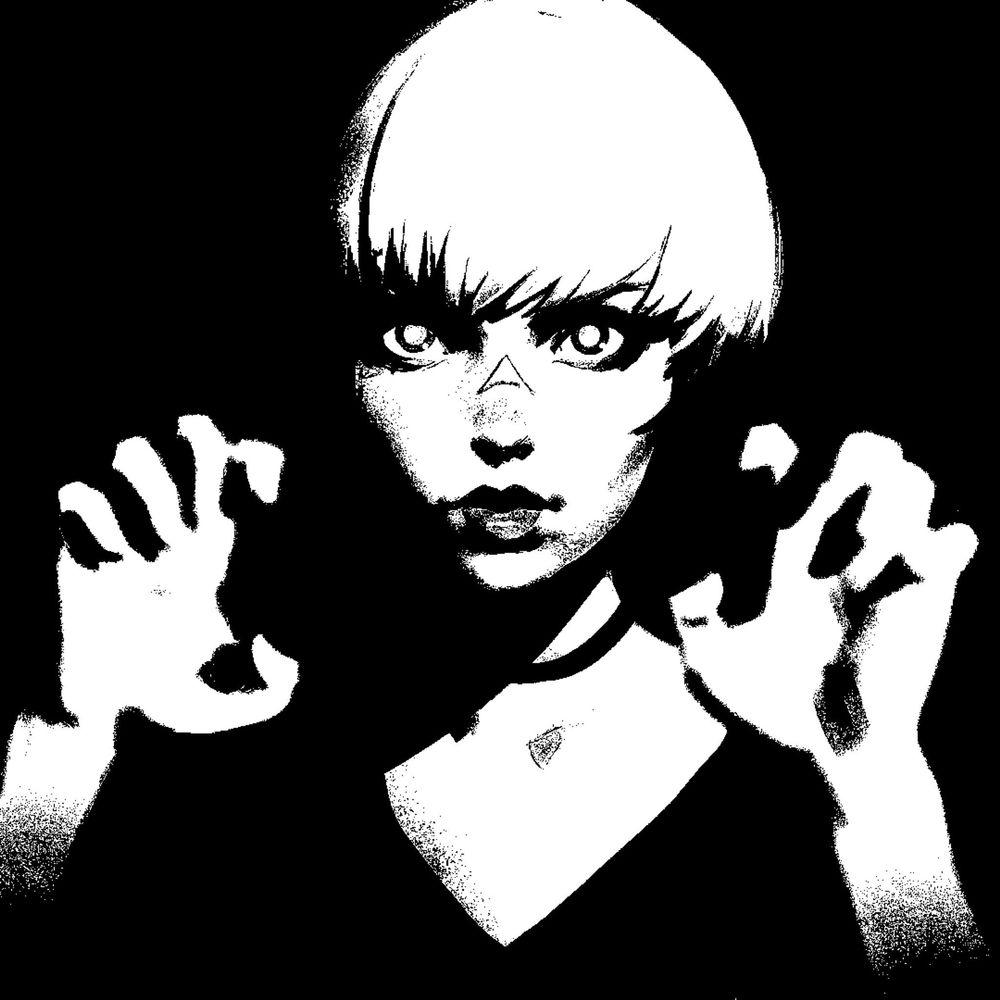 Обои для рабочего стола Девушка держит руки перед собой, by Кувшинов Илья