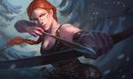Обои Рыжеволосая девушка-Norse archer / Норвежский лучник, by Mariia Loniuk