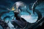 Обои Ведьма Урсула / Ursula из сказки Русалочка / The Little Mermaid, by Mariia Loniuk