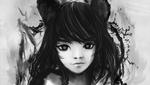 Обои Девушка с кошачьими ушками, by gynryo