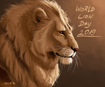 Обои Лев в профиль, World Lion Day / Всемирный день льва, by Paulina Janusz