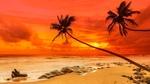 Обои Морской пляж на закате