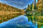 Обои Осеннь на голубом озере, фотограф Giovanni Piras