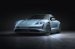 Обои Белый Porsche Taycan Turbo S 2019
