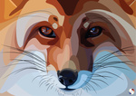 Обои Портрет рыжей лисы, by ElenaGusarova
