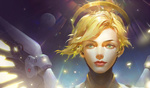 Обои Mercy / Ангел / Ангела Циглер из игры Overwatch / Дозор, by St Luthien