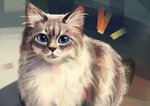 Обои Кошка с голубыми глазами, by Polina 1NFIN1TY Cheliadinova