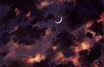 Обои Месяц на ночном небе, by Polina 1NFIN1TY Cheliadinova