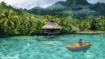 Обои Енот в лодке на воде, by Polina 1NFIN1TY Cheliadinova