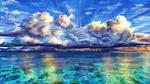 Обои Облачное небо над морем, by Polina 1NFIN1TY Cheliadinova