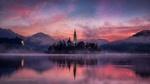 Обои Рано утром в Словении, озеро Блед, by carsten bachmeyer