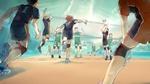 Обои Shouyou Hinata / Шое Хината, Tadashi Yamaguchi, Kenma Kozume, Tooru Oikawa и др. во время игры из аниме Haikyuu! / Волейбол!