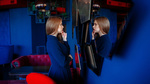 Обои Модель Екатерина стоит перед зеркалом, by Andrey Metelkov