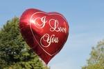 Обои Большой воздушный красный шар в форме сердечка (A Love You) by pixel2013