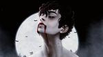 Обои Темноволосый парень-вампир на фоне полной луны, by DaJiF