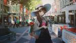 Обои Девушка в городе, by Ryuzaky-kun