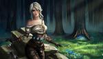 Обои Ciri / Цирилла из игры The Witcher / Ведьмак, by Eollyn Art