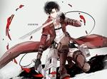 Обои Eren Yeager / Эрен Егер из аниме Shingeki no Kyojin / Вторжение гигантов