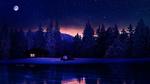 Обои Работа Christmas tale / Рождественская сказка, домик у озера, by Ellysiumn