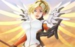Обои Mercy / Ангел / Angela Ziegler / Ангела Циглер из игры Overwatch / Дозор, by Horuto