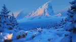 Обои Зимний пейзаж, by Thomas Stoop