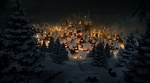Обои Заснеженный город в рождественскую ночь, автор Tomi VГ¤isаnen
