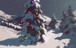 Обои Christmas Tree / рождественская елка в снегу, автор Nicolas Vigneault-Gendron