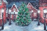 Обои Новогодняя елка в городе, by Rimma Fedotova