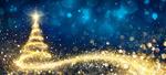 Обои Новогодняя сияющая елка на фоне боке