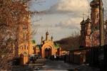 Обои Мужской православный монастырь на фоне деревьев и неба, by Светлана Бердник