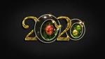 Обои Год 2020 с новогодними шарами, by IgnisFatuusII
