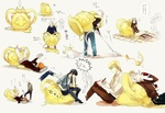 Обои Лави / Lavi, Аллен Уолкер / Allen Walker, Kanda Yu / Канда Юу и Timcanpy из аниме Ди Грей - Мен / D. Gray-man