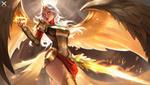 Обои Белокурая валькирия с огненным мечом, by Star Academy