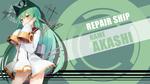 Обои Akashi из игры Azur Lane: Crosswave, by FiRaFi
